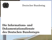 Flyer: Informations-und Dokumentationsdienste des Bundestages