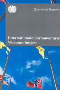 Cover des Flyers: Internationale parlamentarische Versammlungen