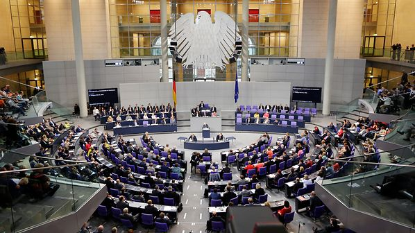 Il Parlamento tedesco in seduta plenaria. Credits to: German Bundestag/Photothek.