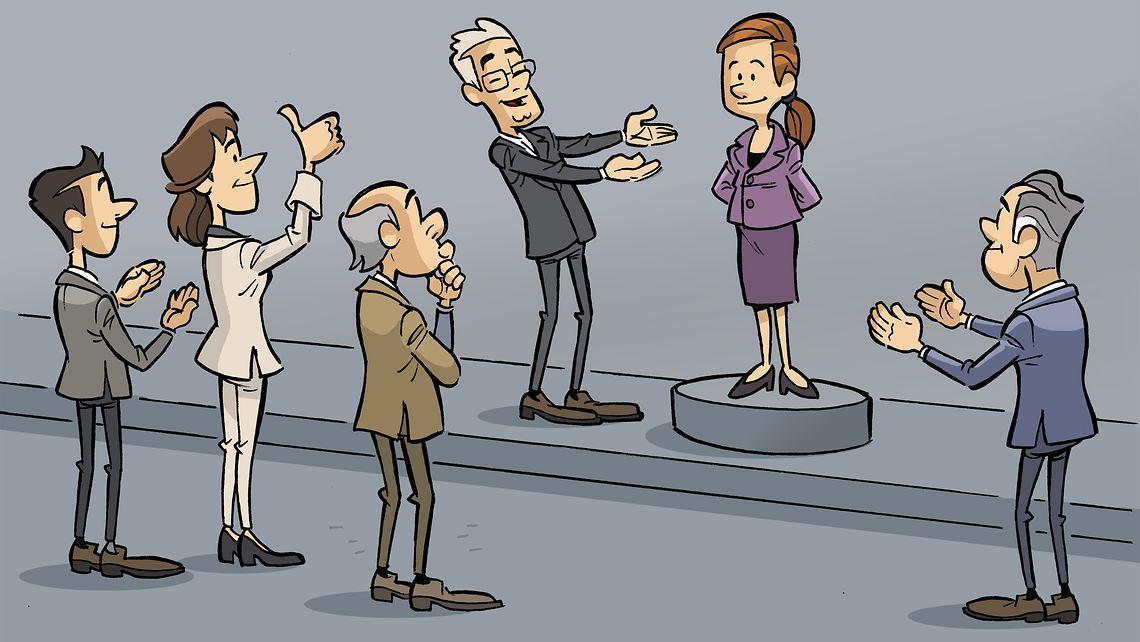 Eine Person wird vorgeschlagen.